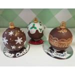 Choco balls snowflakes