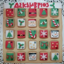 Christmas cookie calendar