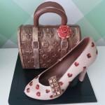 Chocolate high heels and bag 2