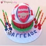 Giant cupcake Arsenal