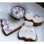 Νυφικό, γαμήλια τούρτα, διπλές καρδούλες