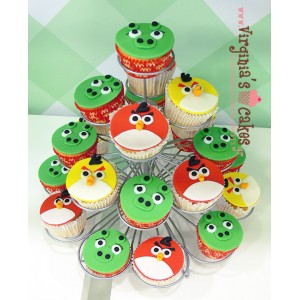 Angry Birds cupcakes