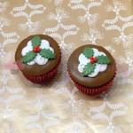 Χριστουγεννιάτικα cupcakes γκι