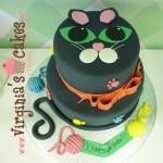 Black cute cat