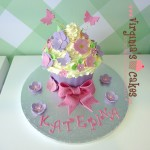 Giant cupcake flowers